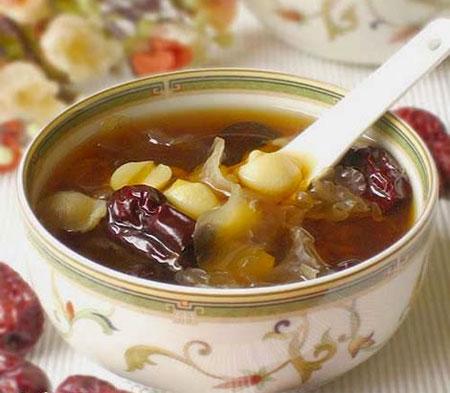 Món Canh ngọc hợp, táo tây (bơm)