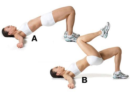 Giảm mỡ bụng sau sinh với cách chống đẩy hông