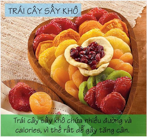 Trái cây sấy khô rất dễ gây tăng cân